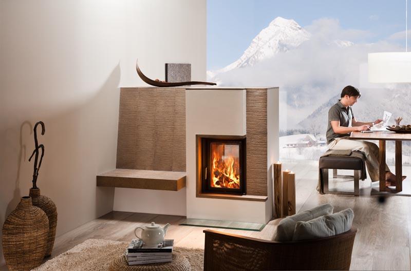 casa moderna roma italy stufe a legna bifacciali. Black Bedroom Furniture Sets. Home Design Ideas